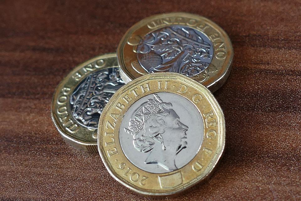 britské mince